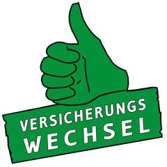 tus219 ThumbUpSign tus-v36 - Versicherungswechsel - grün g2319