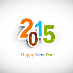 Text for new year 2015 vector colorful design