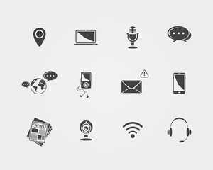 Vector Media and communication icons.