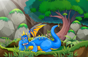 Dragon and forest