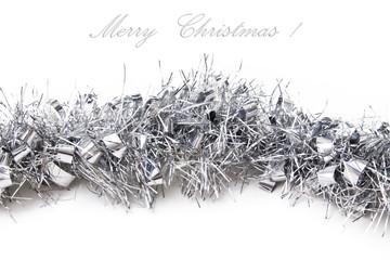 Christmas ribbon isolated