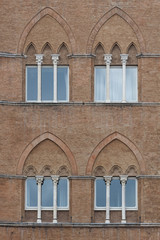 Fototapete - Details of  Piazza del Campo, Siena, Italy