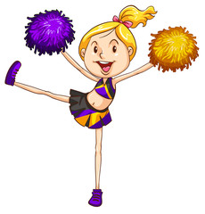 An energetic cheerdancer