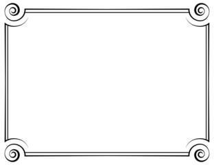 vector horizontal frame