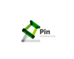 Line minimal design logo pin
