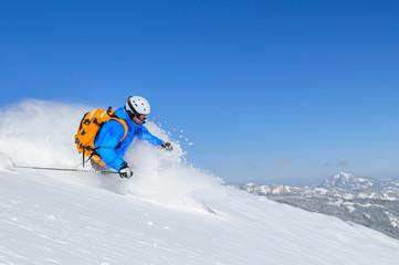 Wall Mural - Skifahren mit Aussicht