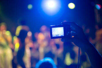 Taking photos at a concert