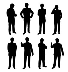 Business silhouette people-Vector