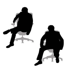 Corporate man Silhouette-Vector