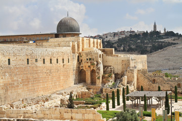 The ancient walls of Jerusalem