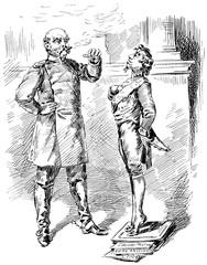 Caricature Benjamin Disraeli, 1st Earl of Beaconsfield