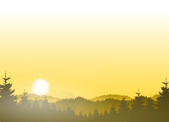 SIlhouette Mittelgebirge Wald