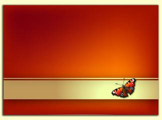 zaproszenie z motylem