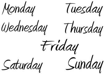 giorni della settimana collage