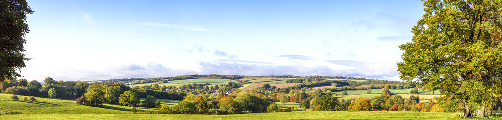 Panoramic Cotswold View, Gloucestershire, England Wall mural