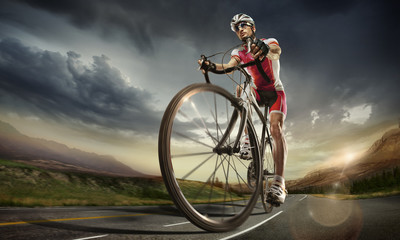 Fototapeten Radsport Sport. Road cyclist.