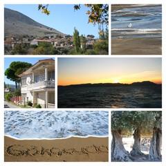 Imbros(Gokceada) Island in Turkey -Collage