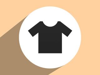Tshirt Icon icon, Flat design style with a triangular pattern ba