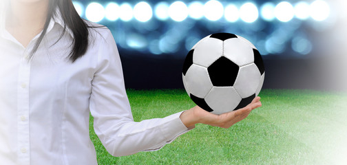 soccer manager at soccer field
