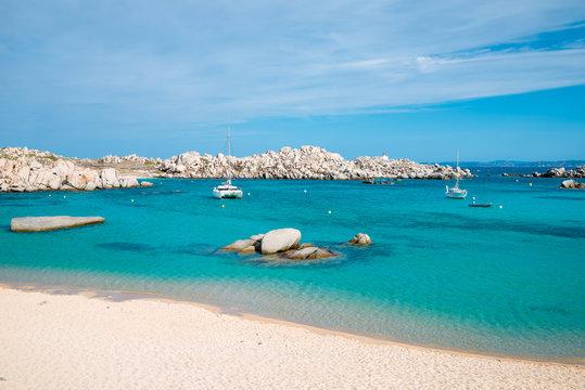 Cala Acciarino the most  beautiful beach on Lavezzi Island,Corse