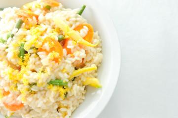 creamy lemon vegetarian risotto