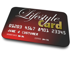 Lifestyle Card Credit Account Borrowing Money Payment Shopping