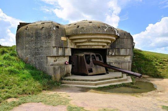 Longues-sur-Mer World War II Gun Battery, Normandy, France
