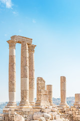 The Temple of Hercules on in Jabal al-Qal'a, Jordan