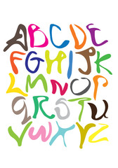 Colorful Squiggle Vector Fonts