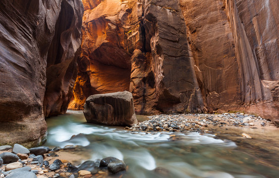 The Narrows trail, Zion national park, Utah, Zion National Park,