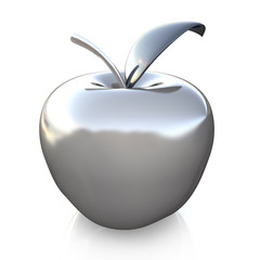 silver glass apple