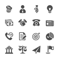 business and economic icon set, vector eps10