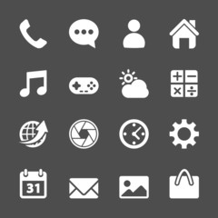 smart phone application icon set, vector eps10