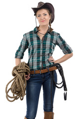 Image of cowgirl with the twine