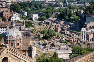 Wall Mural - Ariel view of Roman Forum..