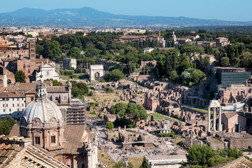 Wall Mural - Ariel view of Roman Forum.