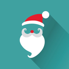 Christmas Retro Santa Card - in vector