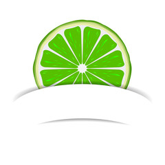 Lime with paper banner