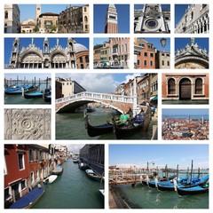 Venice, Italy - photo set collage