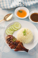 asian roast duck rice