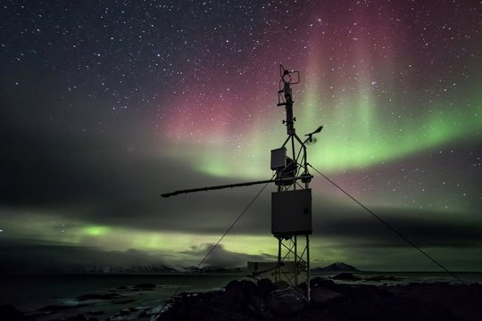 Remote meteorological station in the Arctic environment