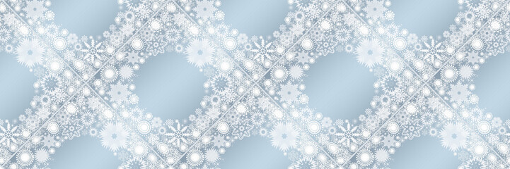 Christmas banners with snowflakes for design, illustration..