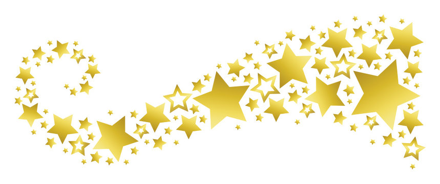 Banner with Golden Stars