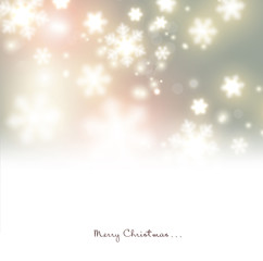 White defocused snowflakes on glow background. Christmas banners