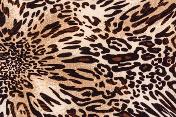 texture of print fabric striped leopard leather