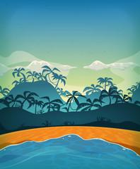 Summer Tropical Desert Island