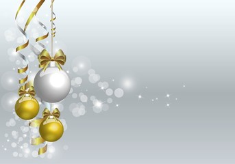 chrstmas background in gold and silver