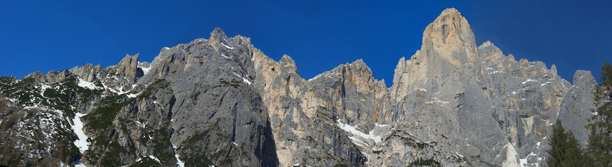 Panoramic view of the Pale of San Martino mountain range