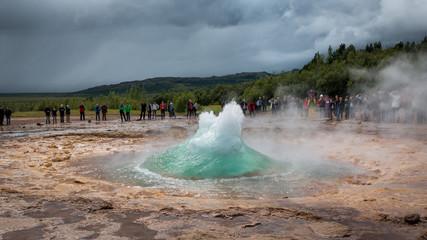 Geyser champ géothermique de Geysir
