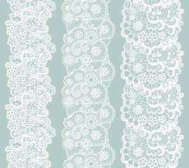 Lacy vintage trim. Set of white lacy vintage elegant trim.